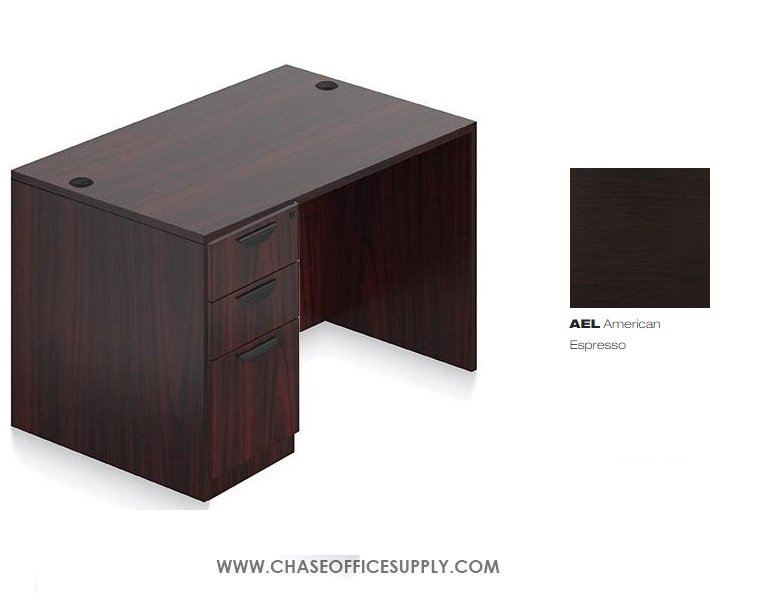 SL3048DS - DESK 30D x 48W x 29H  SINGLE LEFT OR RIGHT PEDS - EXPRESSO *MKPD - IN STOCK FOR FAST DELIVERY!