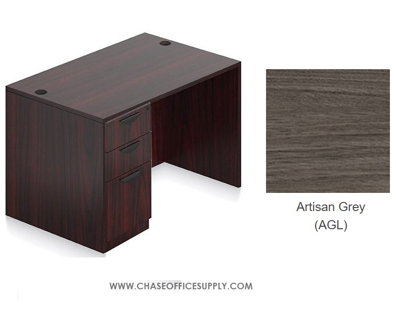 SL3048DS - DESK 30D x 48W x 29H  SINGLE LEFT OR RIGHT PEDS - ARTISAN GREY *MKPD - IN STOCK FOR FAST DELIVERY!