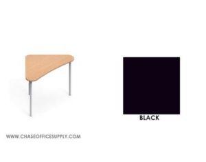 ZOOK -  ZK412529L  LARGE POD TABLE  41''D X 25''W X 29''H COLOR   BLACK