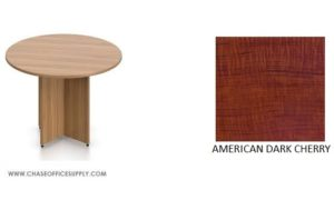 """SL48R - 48"""" ROUND TABLE - DARK CHERRY *MKPD - IN STOCK FOR FAST DELIVERY!"""