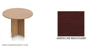 """SL42R - 42"""" ROUND TABLE - MAHOGANY *MKPD - IN STOCK FOR FAST DELIVERY!"""