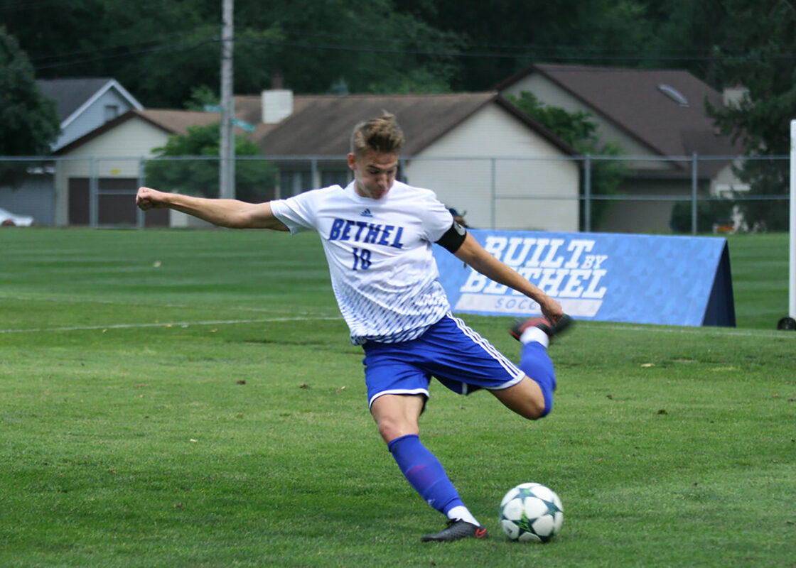 Sammy Biek playing for Bethel Pilots
