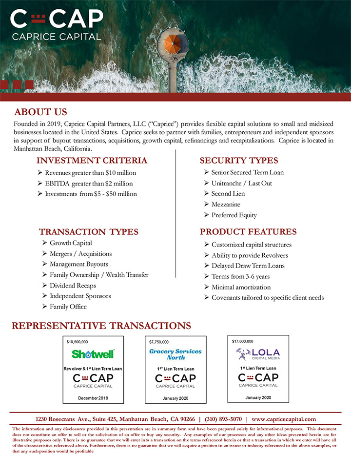 c cap fact sheet pdf