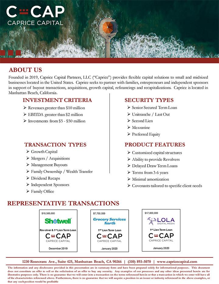c cap fact sheet pdf
