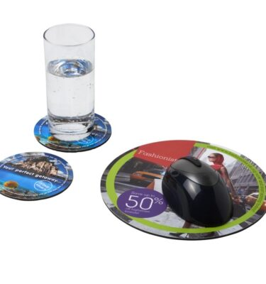 Q Mat Coaster and Mouse Mat Set