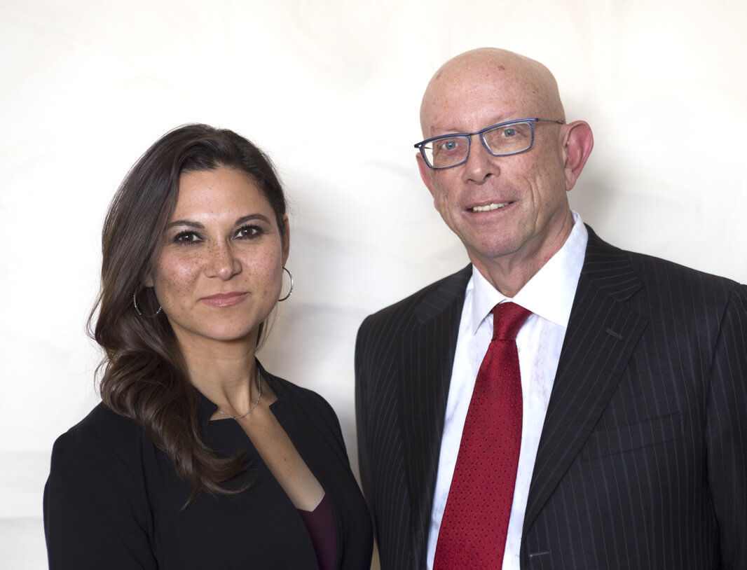 Jessica Hernandez and Paul Kennedy, two of Albuquerque, New Mexico's best attorneys at law
