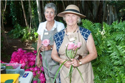 GCA members Jane Hansen and Rita Steele at Mabel's Rose Garden