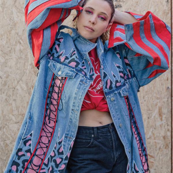chaqueta reciclada diseño autor