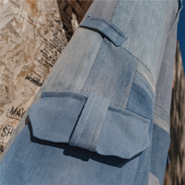 Pantalon de patchwork de jeans