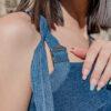 detalles top de jeans