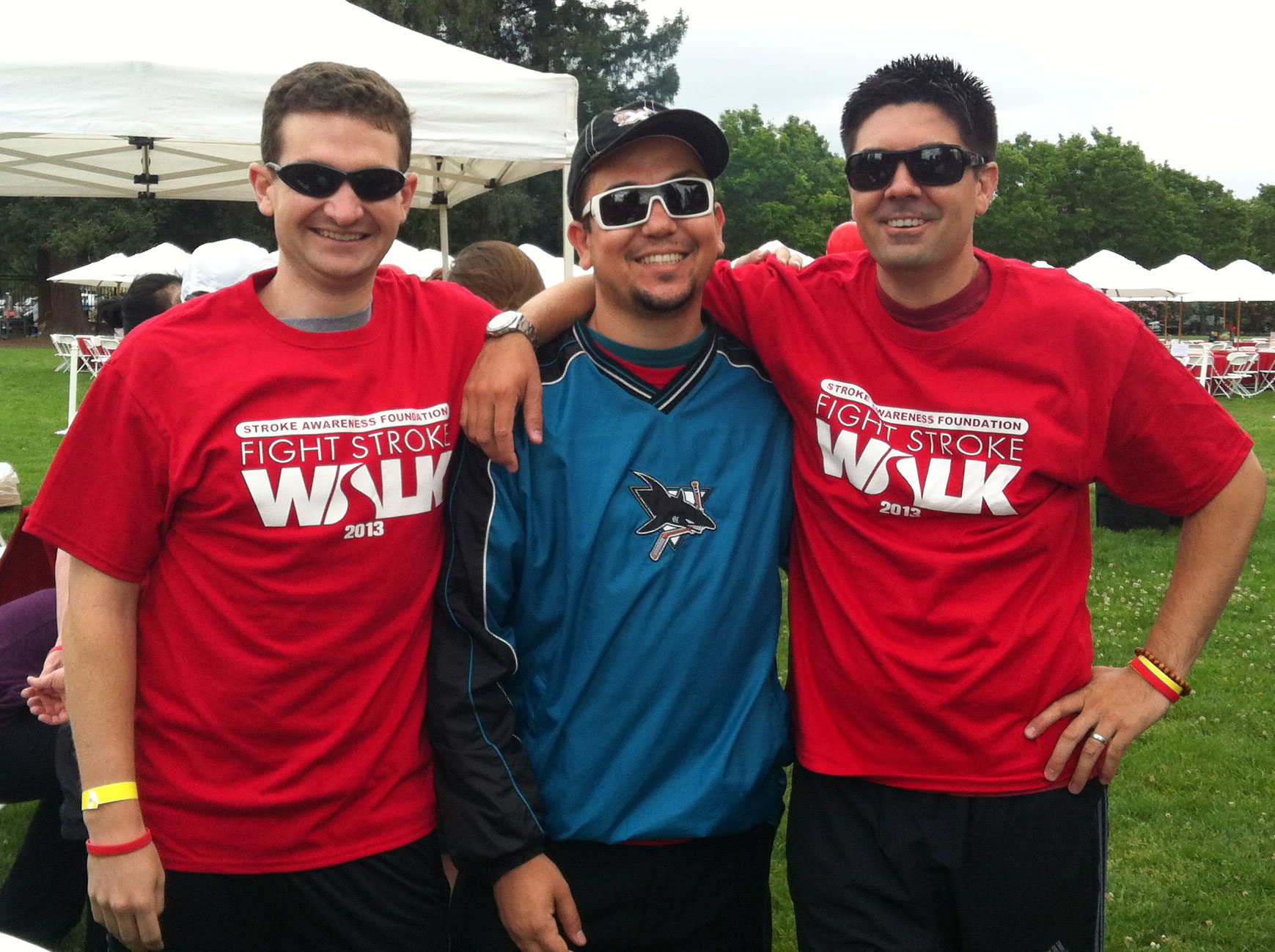 Will, Manny and Scott at the Stroke Awareness Foundation