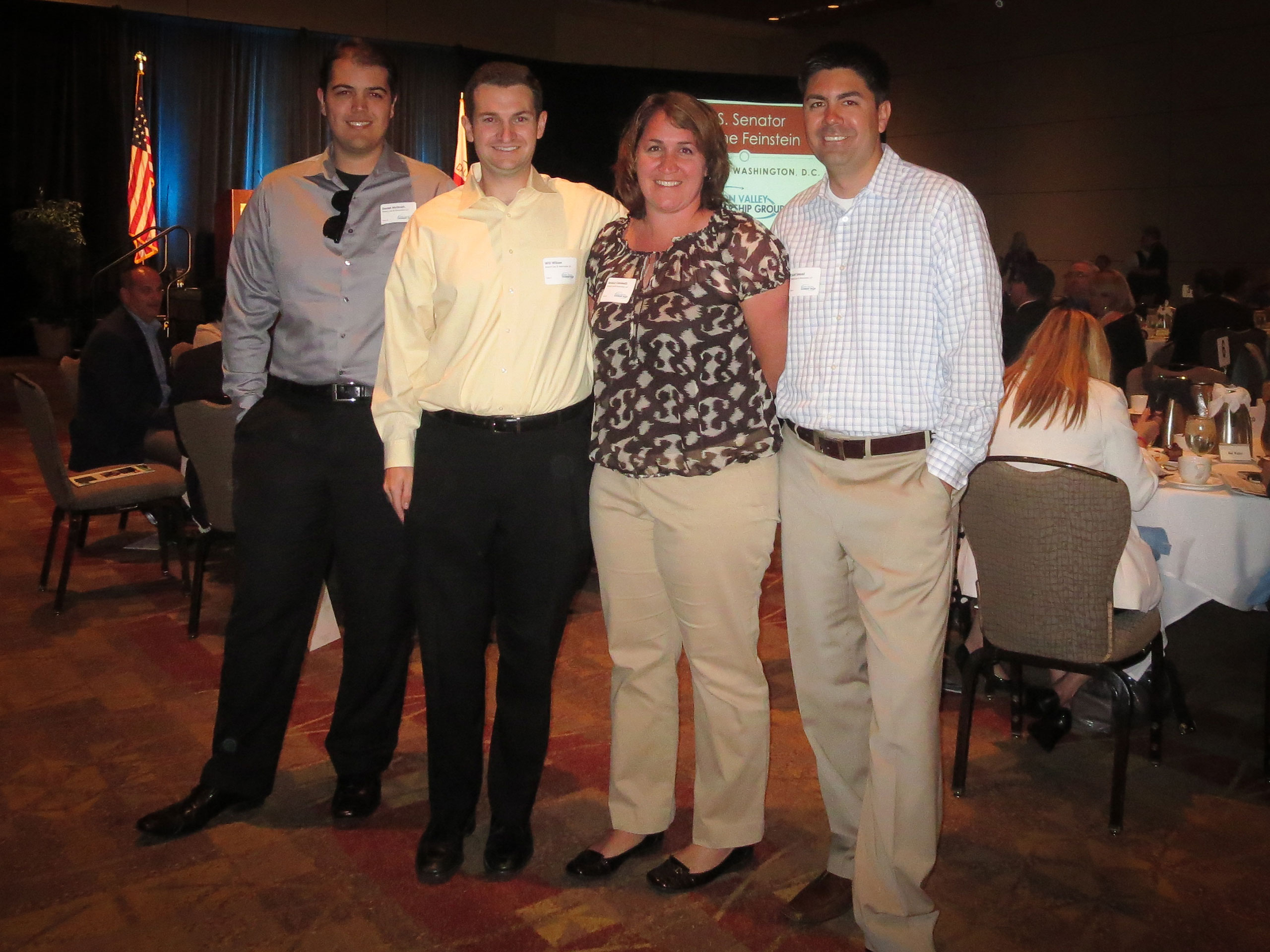 Daniel, Will, Jessica and Scott Supporting Silicon Valley Leadership Group