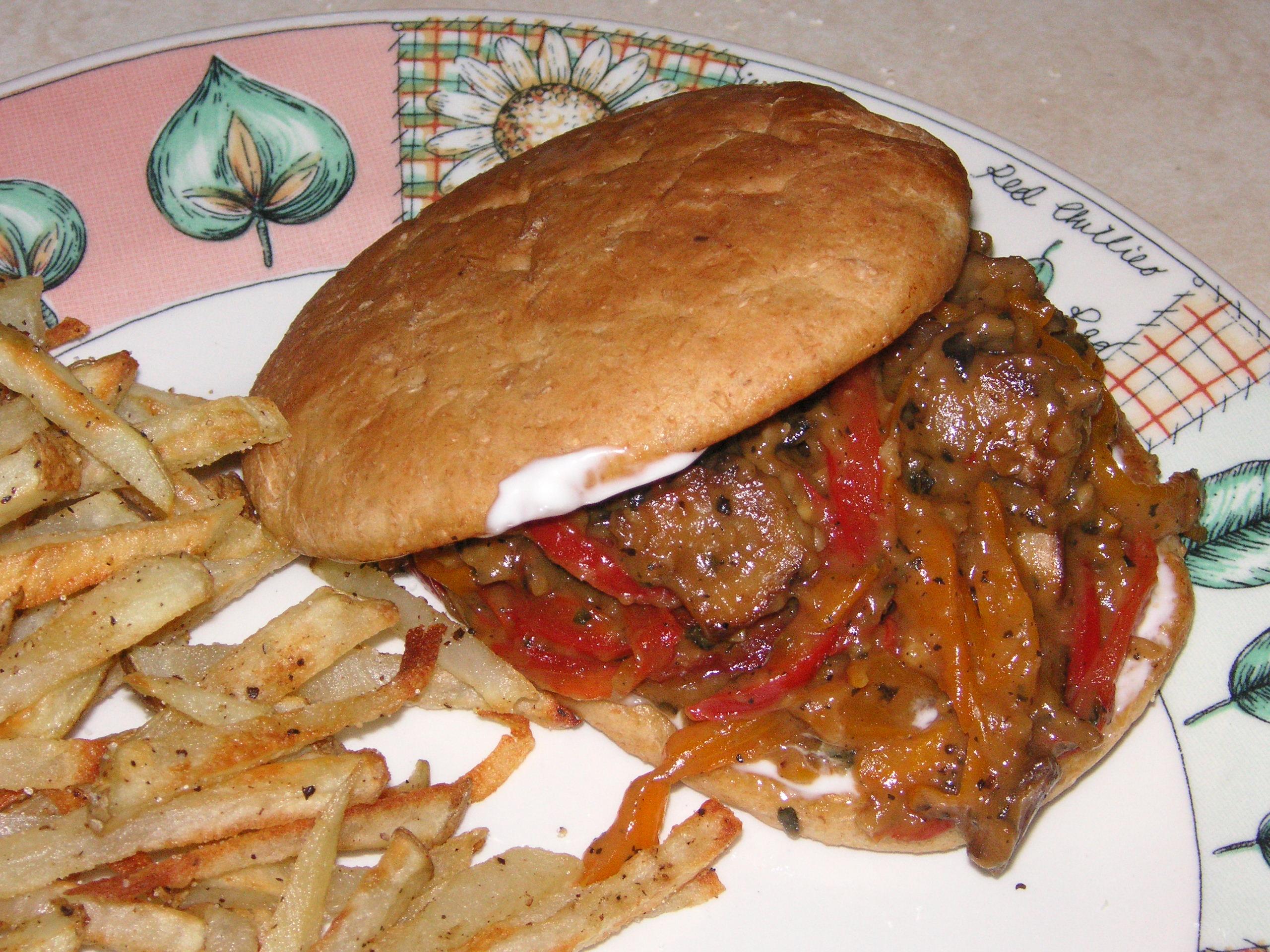 Vegan Philly Cheese Steak   Vegetarian Philly Cheese Steak Sandwich