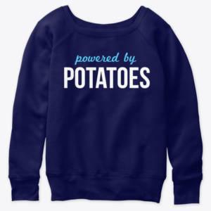 vegan sweatshirt powered by potatoes