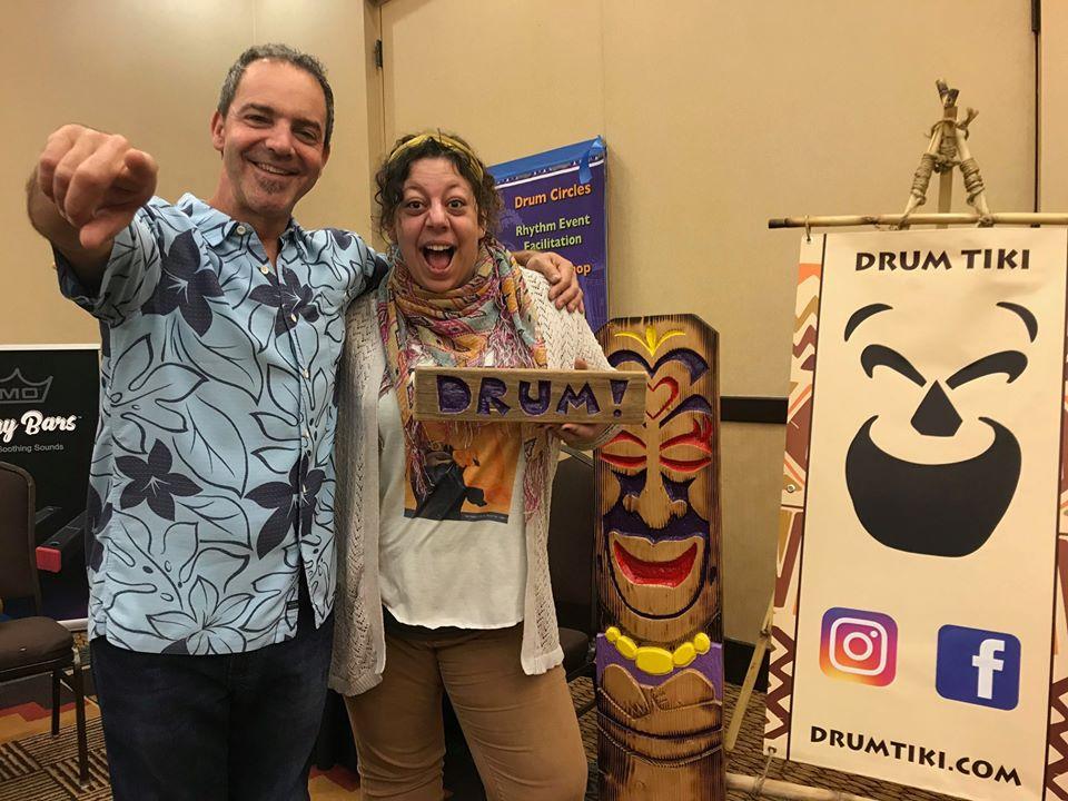 Jamie Artman at the Drum Circle Facilitators Guild Conference 2019