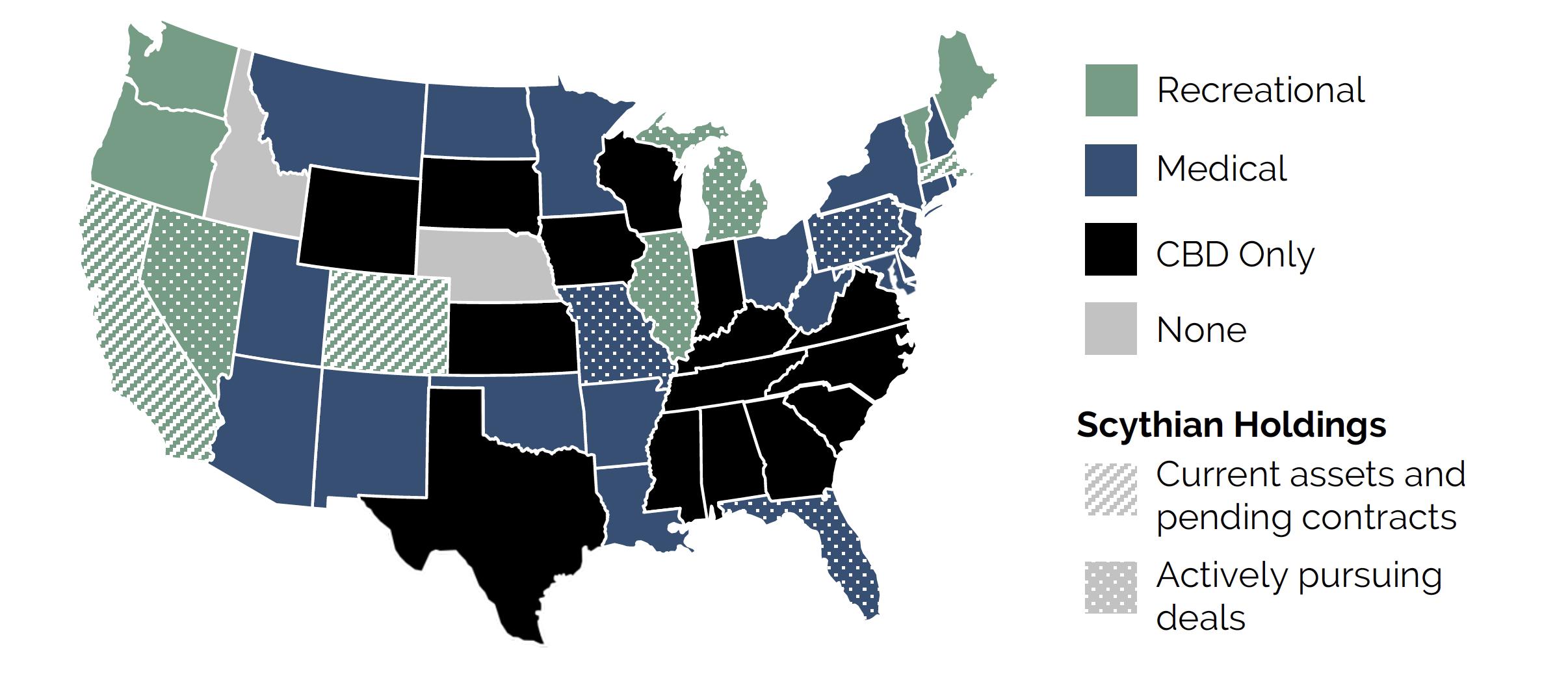 Scythian Cannabis markets map