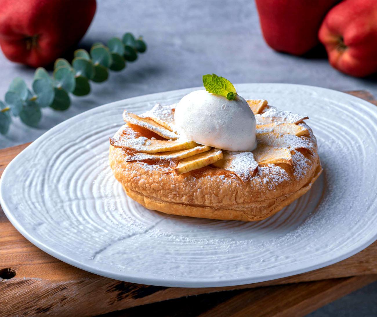 Apple Tart with Madagascar Vanilla Gelato