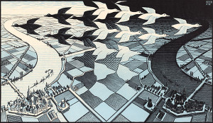 MC Escher's Day and Night