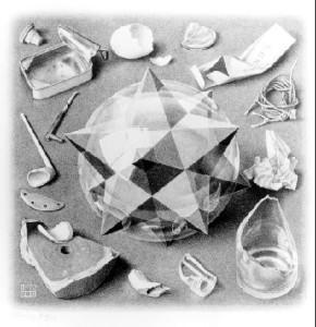 """MC Escher's """"Order and Chaos"""""""