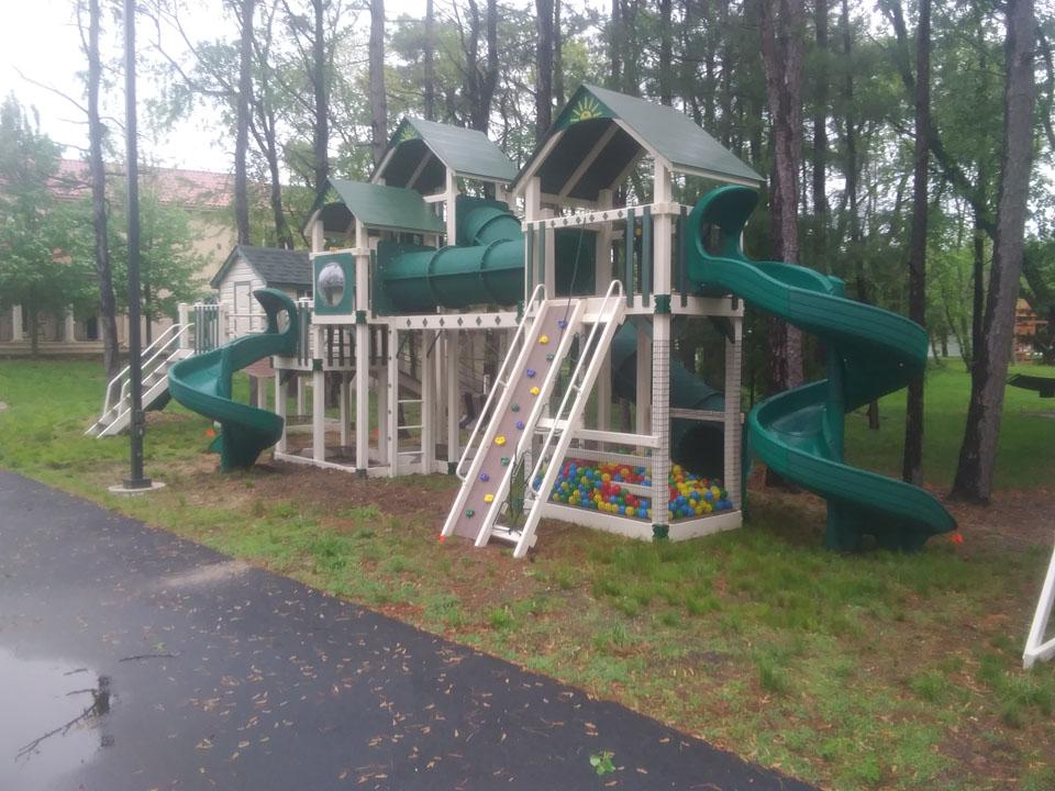 large backyard playset