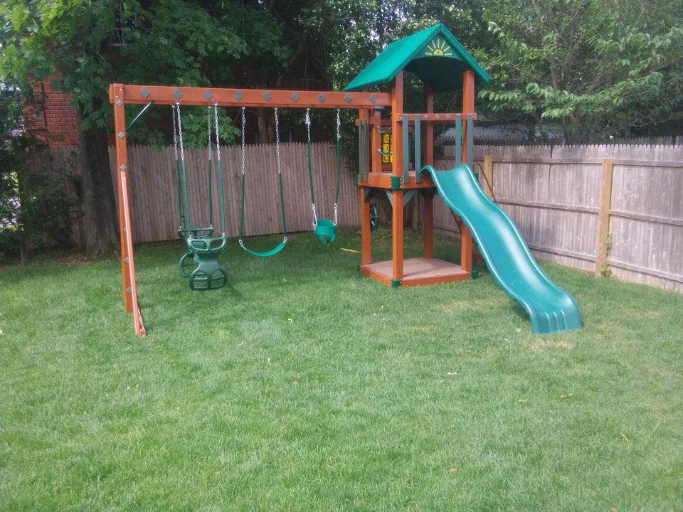 small backyard playset