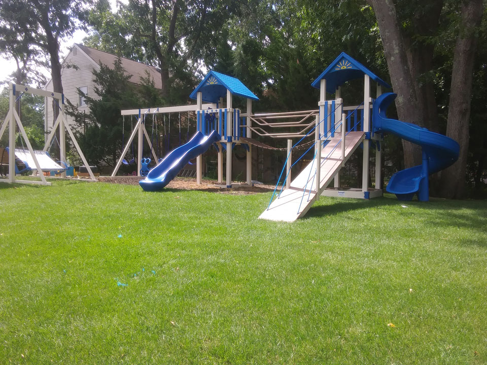 backyard playset with slides