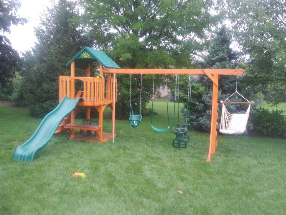 backyard playset with hammock