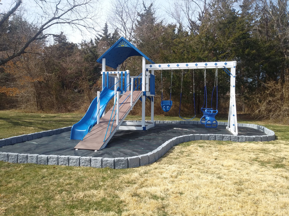 playset with black foundation