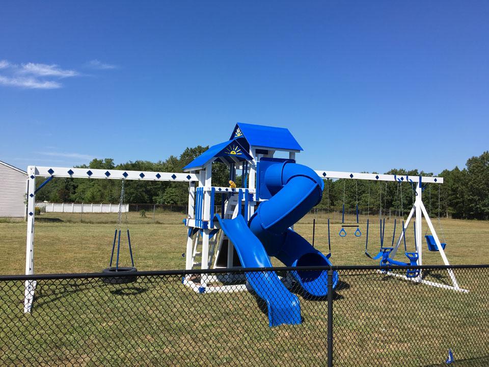 blue backyard playset