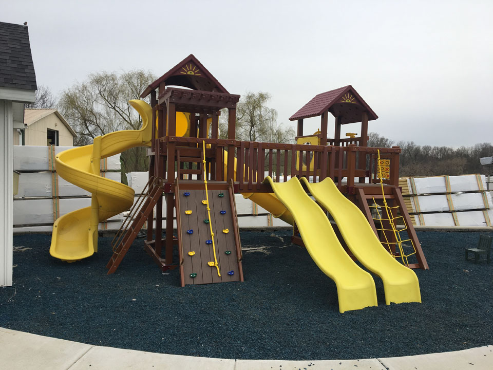 playset with 4 slides
