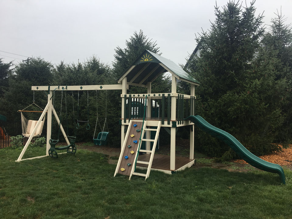 small green playset