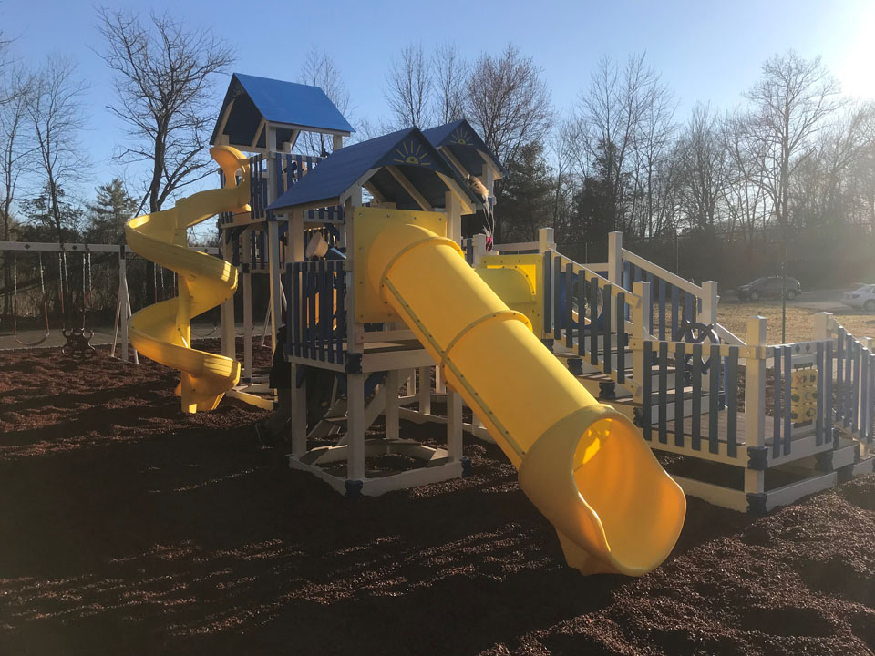 playset with tube slide