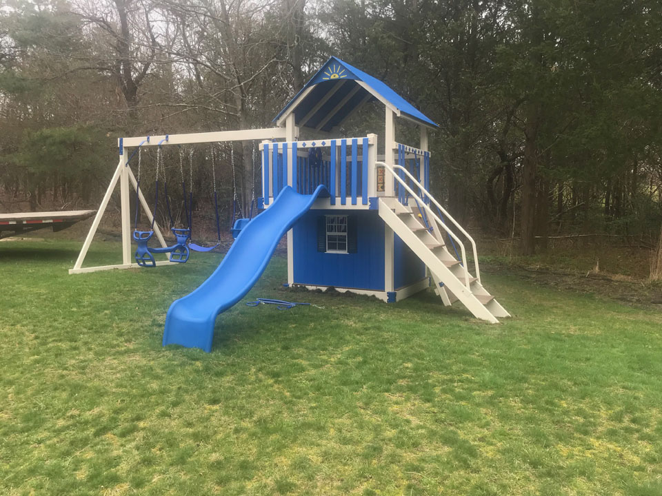 playset with tower