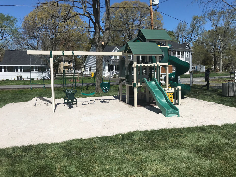 playset with sand