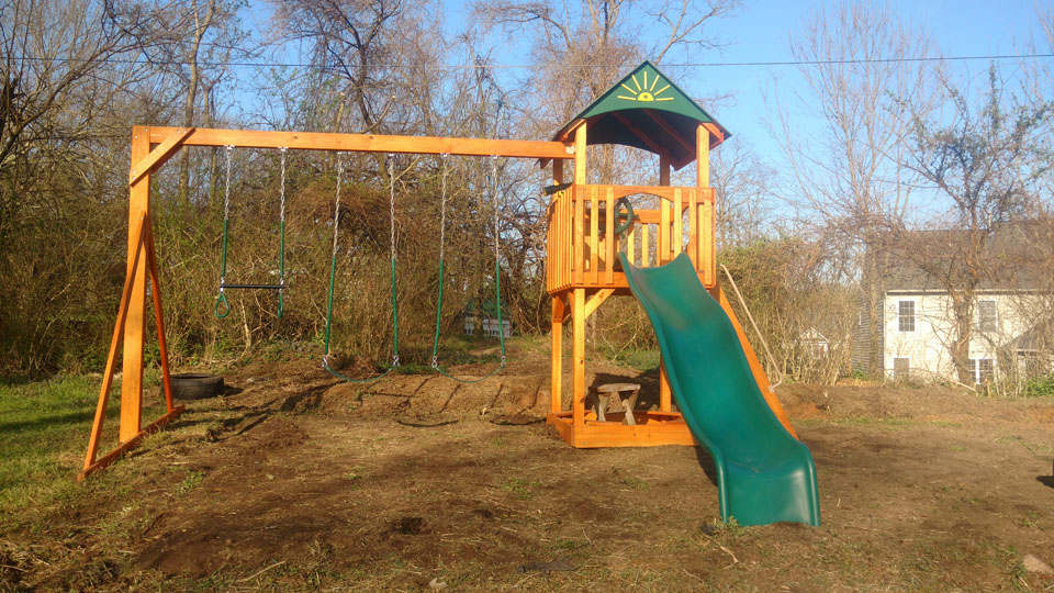 playset on the dirt