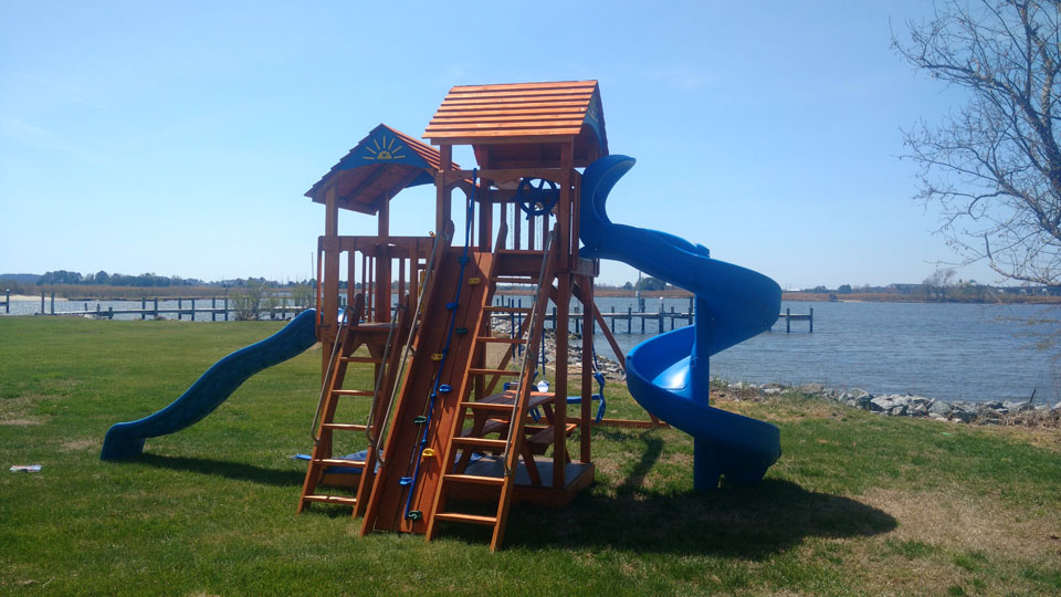 playset by the water