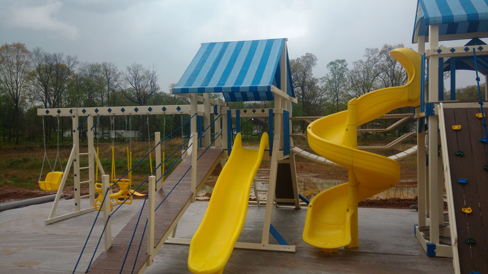 playset with slides