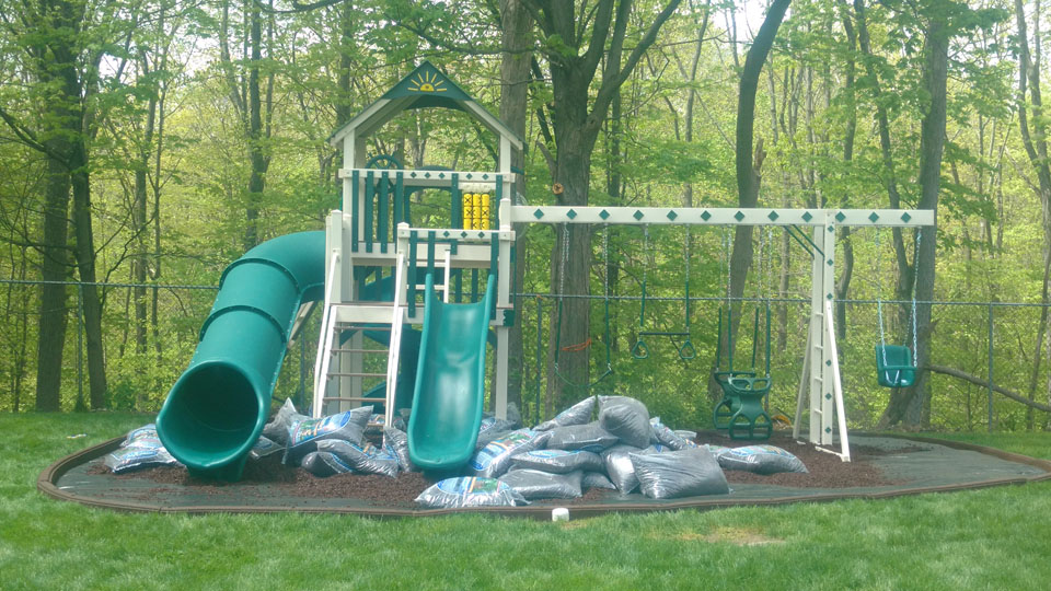 playset with new mulch