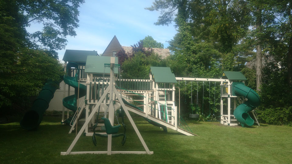 big green and white playset
