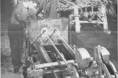 Drawing Hex Rod Drawbench in Finishing Section of No 140 [MA-12-10-1945]