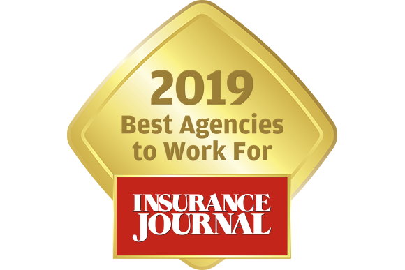 "Insurance Journal's ""Best Agencies to Work For- 2019"" Gold Award icon"