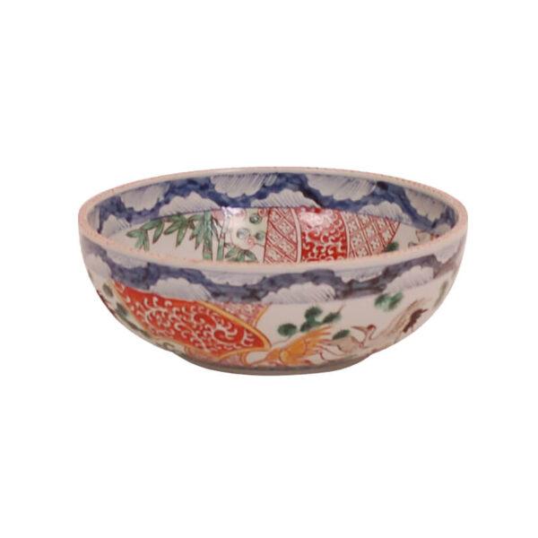 Japanese Reproduction Crane Bowl by Avala International