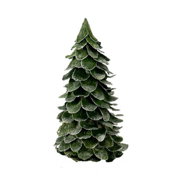 Flocked Butterfly Leaf Cone Tree Large