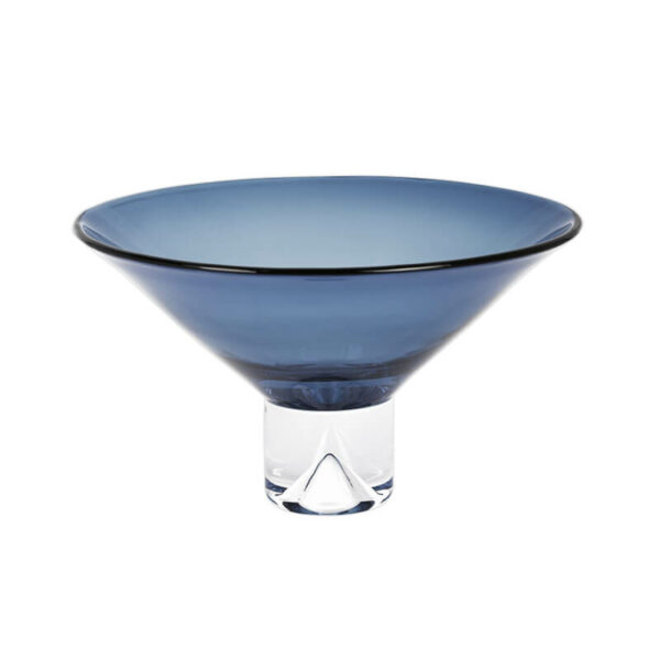 Monaco Midnight Blue Pedestal Bowl by Badash Crystal