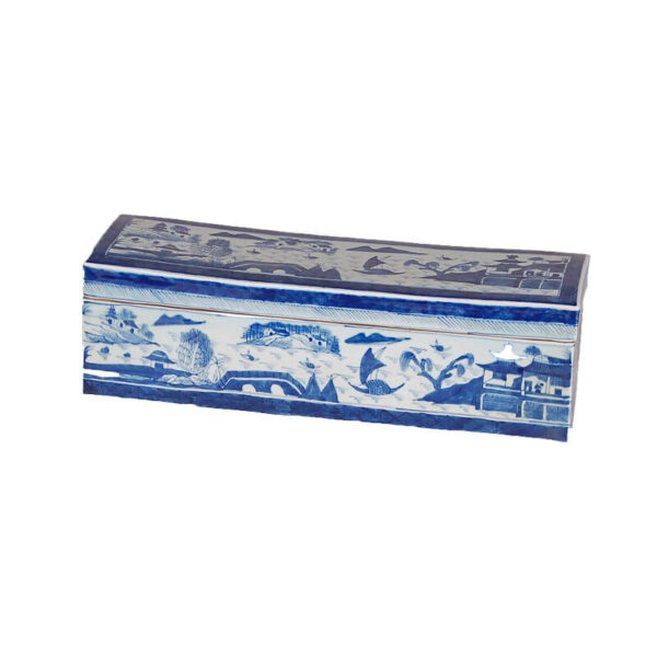 Blue and White Canton Box by Avala International
