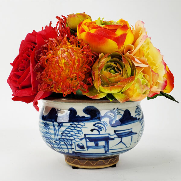 Arrangment in Blue and White Bowl