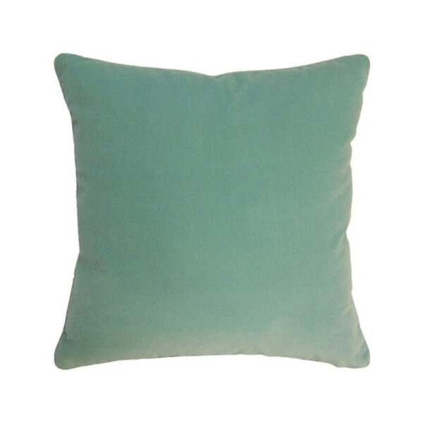Velvet Giorgio Pillow in aqua by Ryan Studio