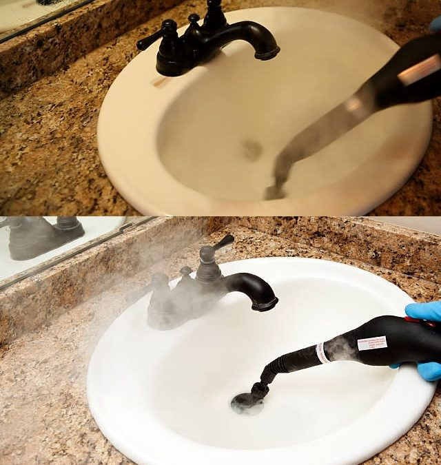 Steam Cleaning the Bathroom Faucet
