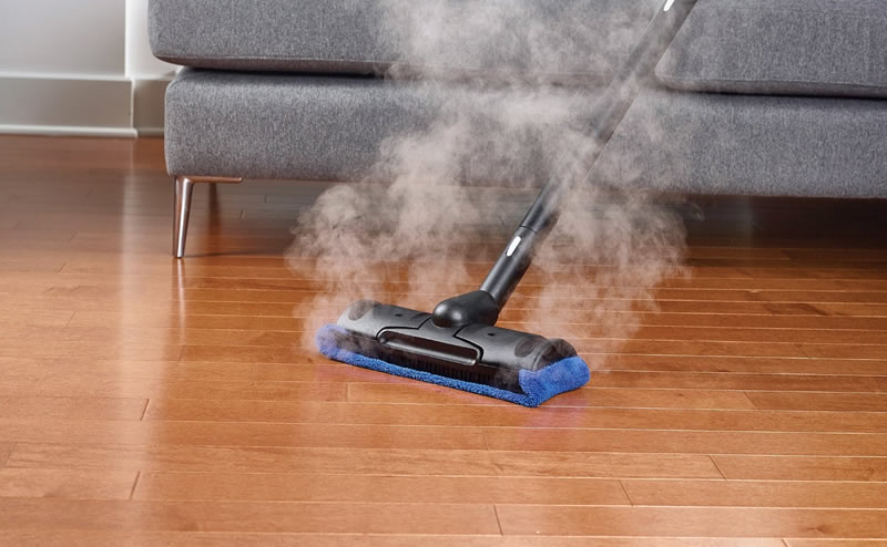 Cleaning the Kitchen Floor with Steam