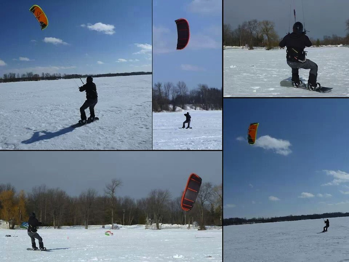 lake simcoe snow kiting